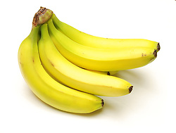 A bunch of banannas. Clipping path is included.