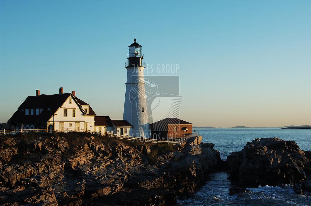 Portland Head lighthouse at dawn