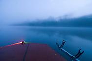 Fishing boat at dawn, catawba River