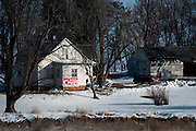 A sign on a home in rural Iowa shows support for Senator and 2016 Republican presidential candidate, Ted Cruz (R-TX) on January 29, 2016. Cruz is in Iowa campaigning in the final days before the Iowa Caucus.<br /> <br /> The Iowa Caucus is the first major electoral event of the nominating process for President of the United States. Both the Democratic and Republican Iowa Caucus will occur on February 1, 2016.