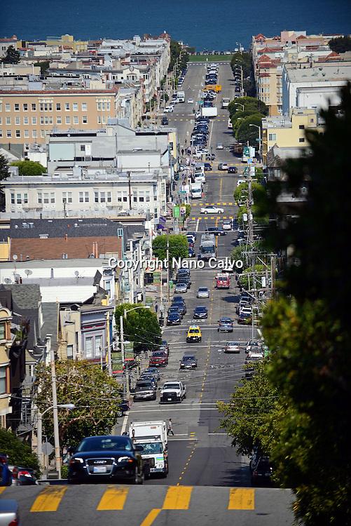 Steep streets of San Francisco, California.