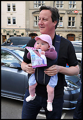 David Cameron with his daughter Florence