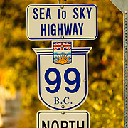 The Sea to Sky Highway.  Near Whistler BC, Canada.
