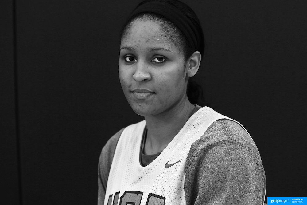 Player Portraits: Maya Moore <br /> <br /> The 2016 USA Basketball Women's National Team Training Camp at the  University of Connecticut&rsquo;s Werth Family UConn Basketball Champions Center, Storrs, Connecticut. 21st February 2016. Photo Tim Clayton