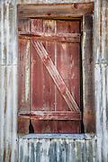 Window in Warren Ranch barn on the Katy Prairie Conservancy in Katy, Texas.
