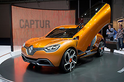 Renault Captur concept car at Frankfurt Motor Show or IAA 2011 in Germany