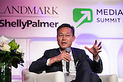 """David Liu, Chairman of Xo Groupon panel. """"If Context Is King, Audiences Rule The Castle"""" at Media Technology Summit 2014 on October 23, 2014. The 7th Annual Media Technology Summit meticulously curates a gathering of global trailblazers, innovators and investors. Landmark Ventures and Shelly Palmer bring together their exclusive global networks of Fortune 500 executives, venture capitalists, entrepreneurs and luminaries; to do business at the nexus of content, hardware, software and brands. The Media Tech Summit 2014 offered a place for the brightest minds to challenge paradigms, forecast trends and innovations, and share their rebellious perspectives in order to establish individual strategies to move forward in this connected world. (Photo: Jeffrey Holmes)"""