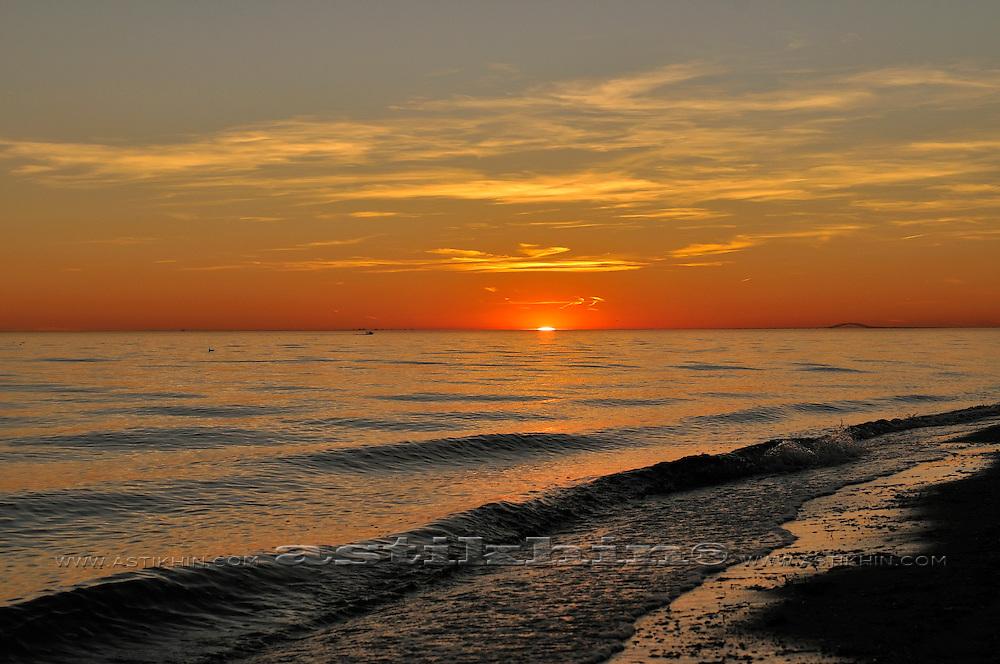 Sunset on East Coast.