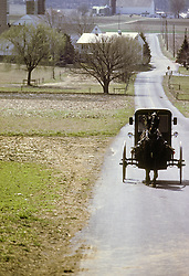 amish buggy country road Lancaster PA