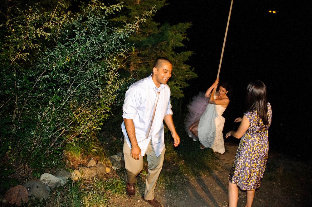 (photo by Matt Roth).Sunday, June 10, 2012..Dan Simons & Mary Spicozza's wedding ceremony at Camp Wandawega in Elkhorn Wisconsin Sunday, June 10, 2012.