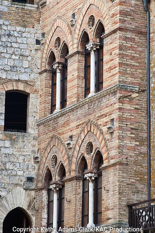 Street scene in San Gimignano, Tuscany, Italy