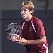 Milford's Colt Williamson in action during a DIAA Tennis State final match Tuesday, May. 26, 2015 at UD Field House in Newark, DEL