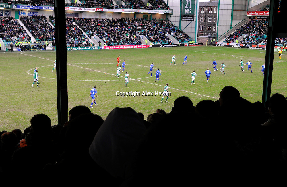 Hibernian Football Club last game for fans in the Hibs East Stand...The match was against St Johnston FC and ended as a 1-1 draw.27/02/2010..Copyright Alex Hewitt.0044 (0)7789 871 540