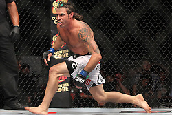 Atlantic City, NJ - June 22, 2012: Clay Guida (White trunks) during his bout against Gray Maynard at UFC on FX 4 at Ovation Hall at Revel Resort & Casino in Atlantic City, New Jersey.