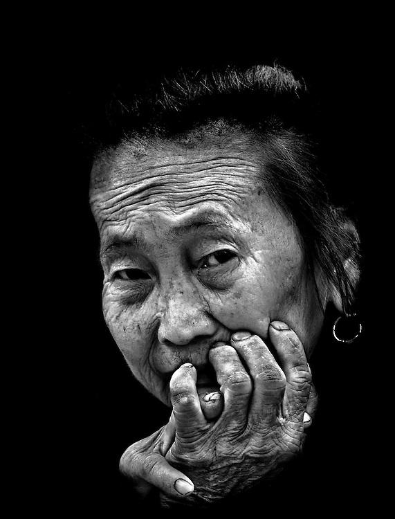 A Hmong woman during Hmong New Year in Luang Prabang, Laos.