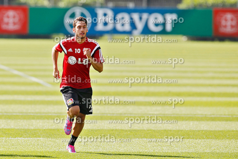 07.07.2014, BayArena, Leverkusen, GER, 1. FBL, Bayer 04 Leverkusen, Training, im Bild Sommer-Neuzugang vom Hamburger SV Hakan Calhanoglu bei seinem ersten Training // during a Trainingssession of German Bundesliga Club Bayer 04 Leverkusen at the BayArena in Leverkusen, Germany on 2014/07/07. EXPA Pictures &copy; 2014, PhotoCredit: EXPA/ Eibner-Pressefoto/ Schueler<br /> <br /> *****ATTENTION - OUT of GER*****