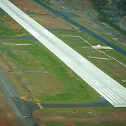 USA, Georgia, Cobb County. Runway 27 at Cobb County Airport (McCollum Field) (RYY).