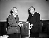 1955 - 12/07 Translation of Catholic Bible into Gaelic - Presented to Ceann Comhairle