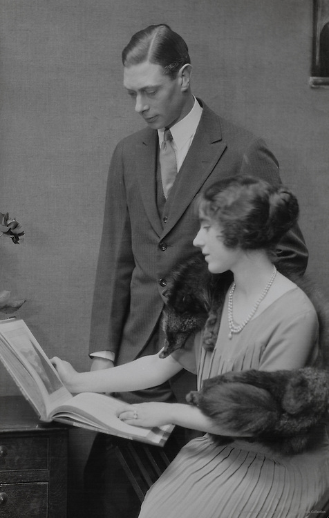 Royal Family: H.R.H. Duke of York & Lady Elizabeth Bowes Lyon, England, UK, 1923