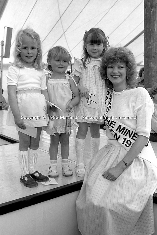 Miss Miner's Lamp competition. 1983 Yorkshire Miner's Gala. Barnsley