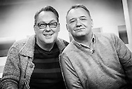 Vic Reeves and Bob Mortimer on Sunday Brunch / 19-01-2014.<br /> <br /> Can be licensed for use at www.rexfeatures.com