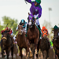 May 03, 2014: California Chrome with Victor Espinoza aboard wins the 140th running of the Kentucky Derby at Churchill Downs Louisville Ky. Alex Evers/ESW/CSM