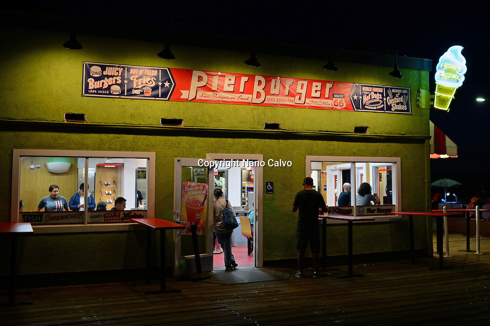 Pier Burger in Santa Monica pier, California.