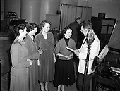 """1953 - Radio Eireann """"Question Time"""" show at the Phoenix Hall, Dublin"""