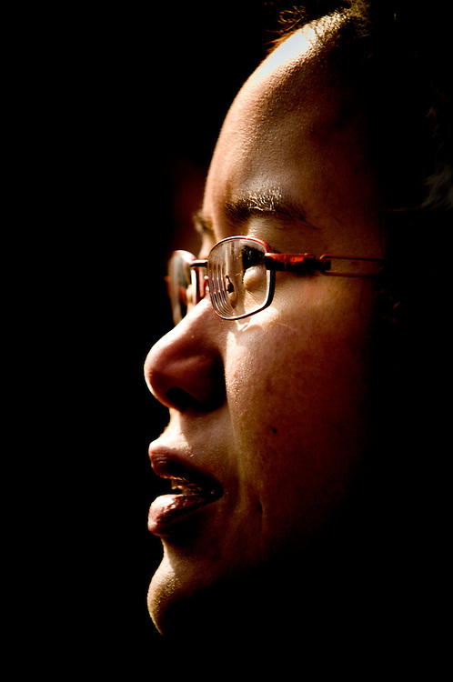 Obama  inauguration..Portraits of people watching President Barack Obama being sworn in from the National Mall in Washington DC..Photographer: Chris Maluszynski /MOMENT