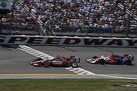 Dan Wheldon, Hideki Mutoh, Iowa Corn Indy 250, Iowa Speedway, Newton, IA USA 22/6/08,
