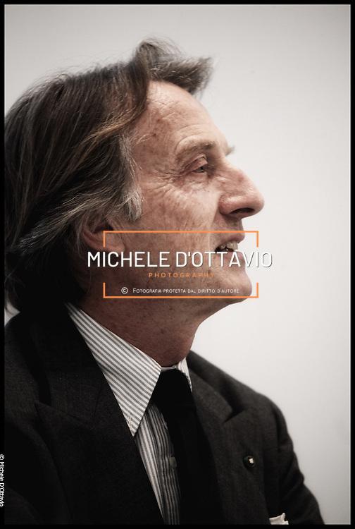 conferenza stampa al Lingotto per annunciare le dimissioni dalla presidenza FIAT di  Luca Cordero di Montezemolo..nella foto Luca Cordero di Montezemolo