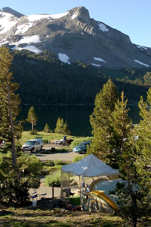 Campground at Tioga Lake along Tioga Pass Road, near Lee Vining, California, United States of America