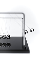 Narrow Depth Of Field Newtons Cradle