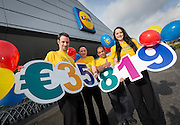 Repro free No Charge for Repro<br /> 1-3-16<br /> <br /> Today Lidl staff in Kilkenny are celebrating as they reveal they have raised a fantastic &euro;35,819 for their chosen charity, Barretstown. This has helped the retailer smash their national fundraising target by raising &euro;1.2 million for Barretstown, &euro;200,000 more than their initial target of &euro;1 million in 3 years. The funds will go towards providing programmes that are medically endorsed and designed to give children back their confidence and self-esteem. Lidl would like to thank all their customers who supported this great cause. <br /> <br /> Pictured here is Darren Bourke, manager, Marion Murphy, Ladislav Horvath and Ashleigh Baxter, Barretstown buddy.<br /> Picture Dylan Vaughan.