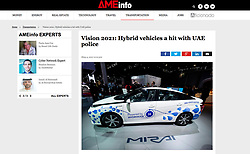 AMEinfo magazine; Hydrogen fuel cell vehicle