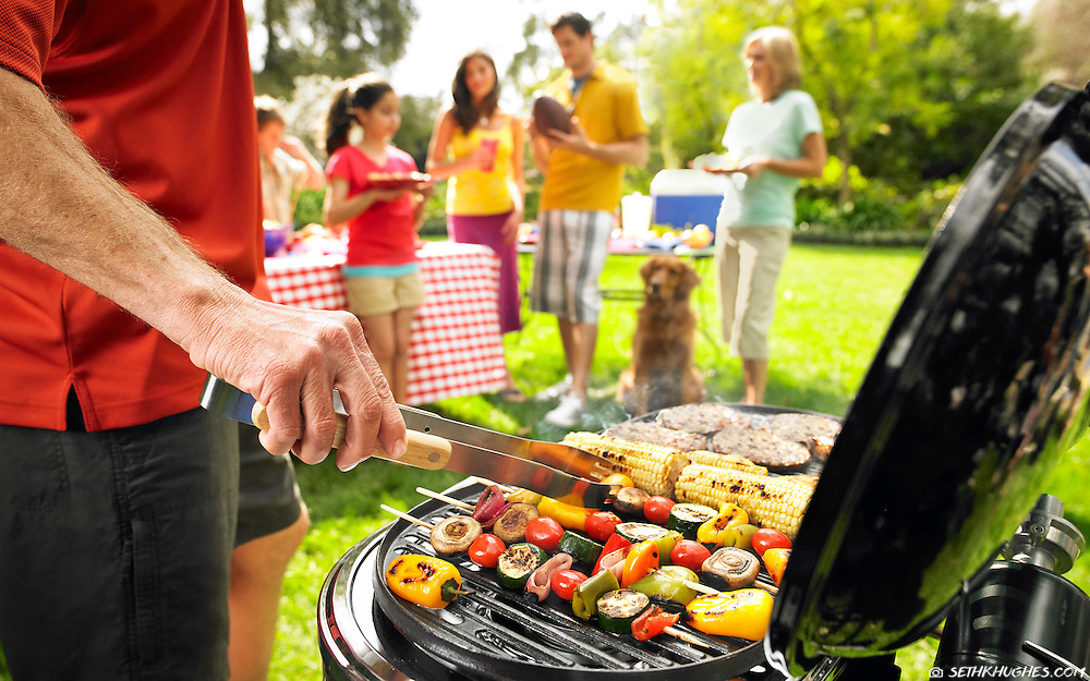 Backyard, Memorial Day, BBQ, celebration.