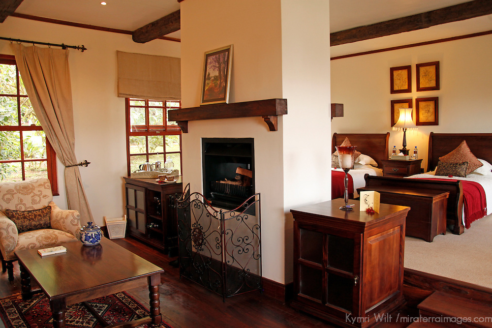 Africa, Tanzania, Ngorongoro. Cottage of the Manor at Ngorongoro.