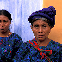 Maya Women, Mother and Daugther, Antigua, Guatemala, Central America