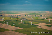 aerial image wind farm ethridge montana edge of blackfeet reservation conservation photography - blackfeet oil