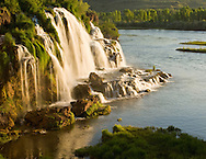 Idaho. Fall Creek Falls along the South Fork of the Snake River at Sunrise.  Eastern, near Swan Valley.