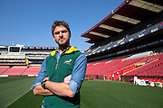 Cornel Van Heerden, 28, from Brits, pictured in Ellis Park, Johannesburg. It was here after the Rugby World Cup final in 1995 that President Nelson Mandela presented the Webb Ellis Cup to the South African captain François Pienaar.
