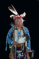 Jeff Sanders,Warm Springs Pow Wow,Oregon,USA.(Model release 0098)
