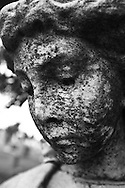 A statue of an angel at the Congressional Cemetery.