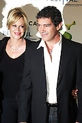 """21 April 2010- New York, NY- l to r: Melanie Griffinth and Antonio Banderas at The World Premiere of Dreamwork Animation's """" Shrek Forever After """" for the Opening Night of the 2010 Tribeca Film Festival held at the Zeigfeld Theater on April 21, 2010 in New York City."""