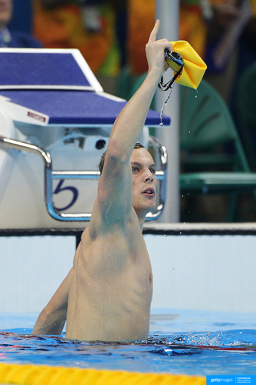 Swimming - Olympics: Day 5  Kyle Chalmers of Australia winning the Men's 100m Freestyle Finalduring the swimming competition at the Olympic Aquatics Stadium August 10, 2016 in Rio de Janeiro, Brazil. (Photo by Tim Clayton/Corbis via Getty Images)
