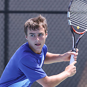 Caesar Rodney David Haynes in action during a DIAA Tennis State final match Tuesday, May. 26, 2015 at UD Field House in Newark, DEL