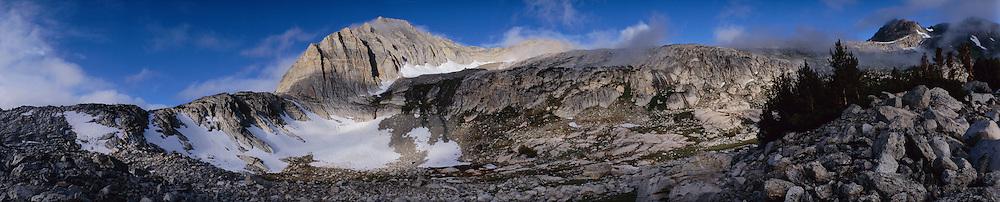 Panoramic view of North Peak in the Sierra Nevada