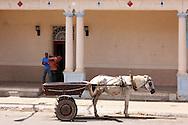 Horse and cart in San Juan y Martinez, Pinar del Rio, Cuba.