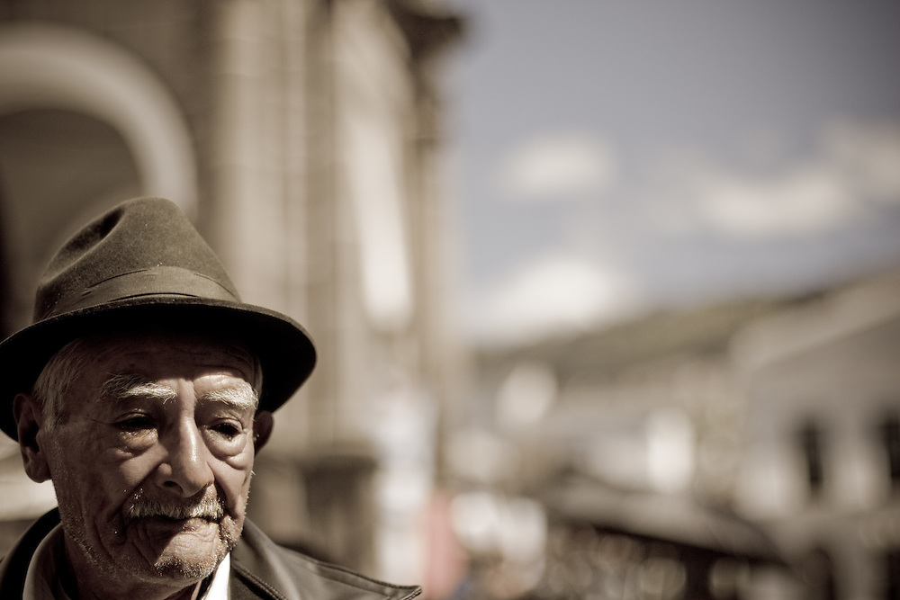 man in old town Quito