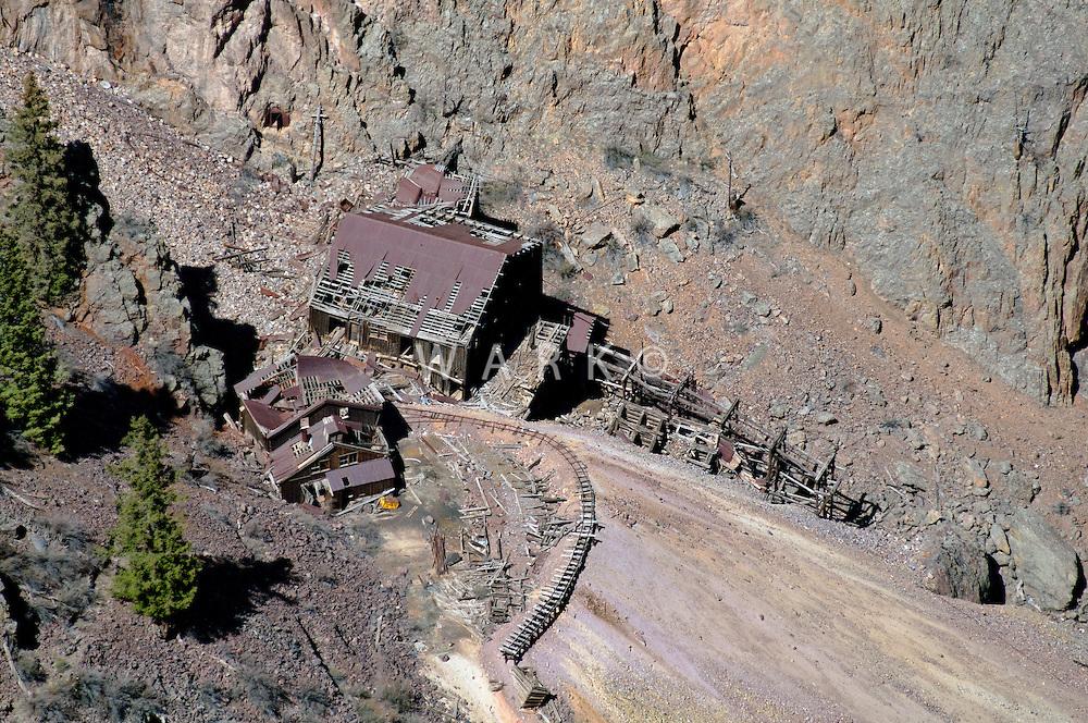 Historic mine buildings north of Creede, Colorado. April 2012